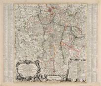 """Tobias Conrad Lotter """"Excata Delineatio Geographica. Praefecturarum Colditium, Leissnigium,"""