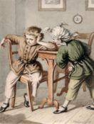 Hugo Bürkner, Sich streitende Buben. 1859. Hugo Bürkner 1818 Dessau – 1897 DresdenAquarell und