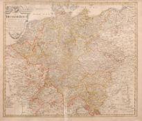 """Franz Ludwig Güssefeld """"Charte das Deutsche Reich nach seinen Kreisen und deren Unterabtheilungen"""