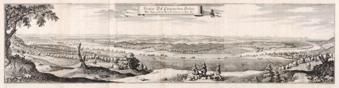 """Caspar Merian """"Prospect des Elbstroms umb Dresden. Wie solches auff dem Berg bei Loschwitz zu"""