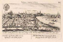 Petrus Bertius und Daniel Meisner, Konvolut von drei Ansichten von Dresden und Meissen. 17. Jh.