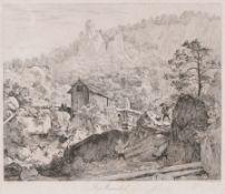 "Johann Christoph Erhard ""Bey Muckendorf"". 1818. Johann Christoph Erhard 1795 Nürnberg – 1822"