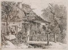"Johann Christoph Erhard ""Die Frau, welche Wäsche trocknet"". 1817. Johann Christoph Erhard 1795"