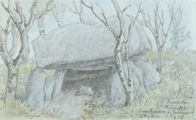 Oscar von Alvensleben, Helligdomsklippen auf Bornholm / Grabkammer in Tornegaard (Tornegård) auf