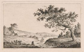Elias Meyer, Landschaft mit Gehöft und Reiter. Spätes 18. Jh. Elias Meyer 1763 Kopenhagen – 1809