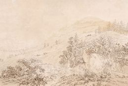 Adrian Zingg, Blick auf Karlsbad. Um 1794. Adrian Zingg 1734 St. Gallen – 1816