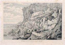 "Florian Grospietsch ""Veduta di S. Francesco presso Amalfi"". 1826. Florian Grospietsch 1789 Protzan –"
