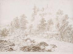 """Adrian Zingg """"Die Brücke über die Tepl (Teplá) beim Johannisfelsen in Böhmen"""". Nach 1794. Adrian"""