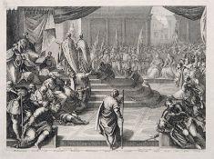 """Domenico Rossetti """"Ambasciatori Veneti all all Imperator Federico Barbarossa […]"""". 1720. Domenico"""
