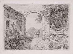 """Johann Christoph Erhard """"Das Mädchen mit der Grasbürde außerhalb des Torbogens"""". 1817. Johann"""