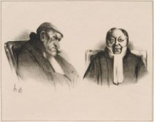 Honoré Daumier, Zwei Juristen. Mitte 19. Jh. Honoré Daumier 1810 Marseille – 1879