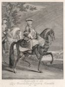 "Johann Elias Ridinger ""Augustus III. Rex Polonarum Elector Saxonia"". Um 1760. Johann Elias"