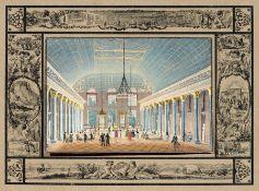 """Ernst Friedrich Grünewald """"Das Innere des Cursaal zu Wiesbaden"""". Wohl um 1828. Ernst Friedrich"""