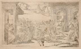 Marcantonio Raimondi (nach Raffaello), Das Martyrium der Heiligen Cecila und der Heiligen
