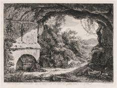 """Johann Christian Reinhart """"Interiore del Sepolcro dellaFamiglia de Nasoni (…sulla strada de"""