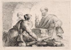 """Christian Bernhard Rode """"Die Witwe zu Sarepta"""". 2. H. 18. Jh. Christian Bernhard Rode 1725"""