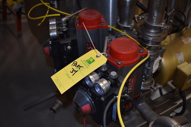 Lot 37 - (1) Endress & Hauser 83F Series Valve, (2) Triac Pneumatic Valves w/VRC #VP-900 Positioner