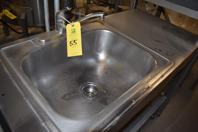 Lot 55 - Stainless Steel Sink, Single Basin, RIGGING FEE $15