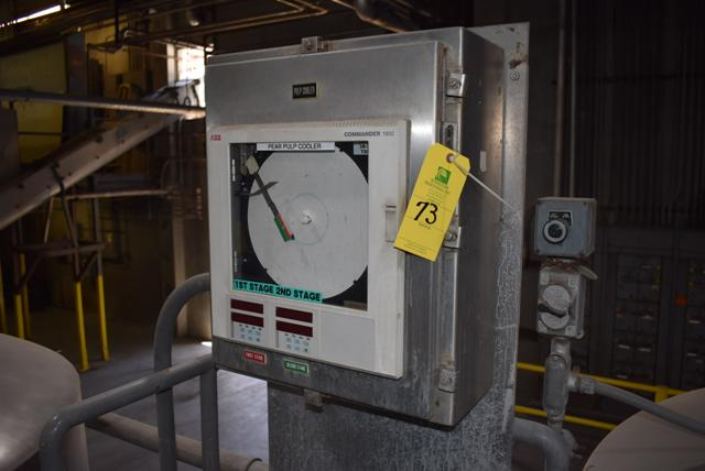 Lot 73 - ABB Commander 1800 Temp. Chart, Stainless Steel, Single Door Cabinet, RIGGING FEE $75