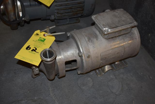 Lot 62 - Stainless Steel Pump & 1 HP Motor, RIGGING FEE $25