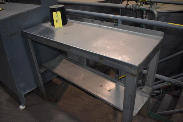 """Lot 74 - Stainless Steel Table, 50"""" x 20"""" Top, RIGGING FEE $10"""