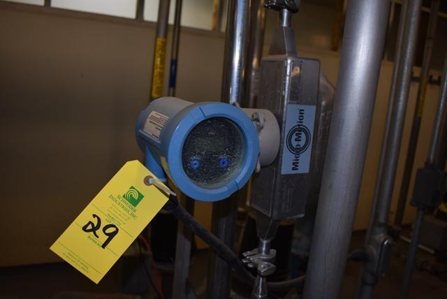 Lot 29 - Micromotion #HD25S Series Flow Meter, RIGGING FEE $50
