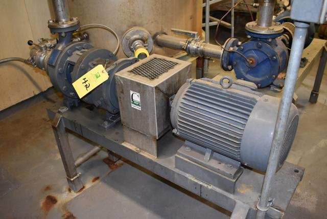 Lot 42 - Griswold/Coker Model #811M Pump & 10 HP Motor, RIGGING FEE $200