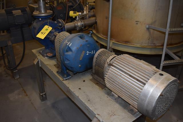 Lot 41 - Viking Model #LL124 Pump & 10 HP Motor, RIGGING FEE $150