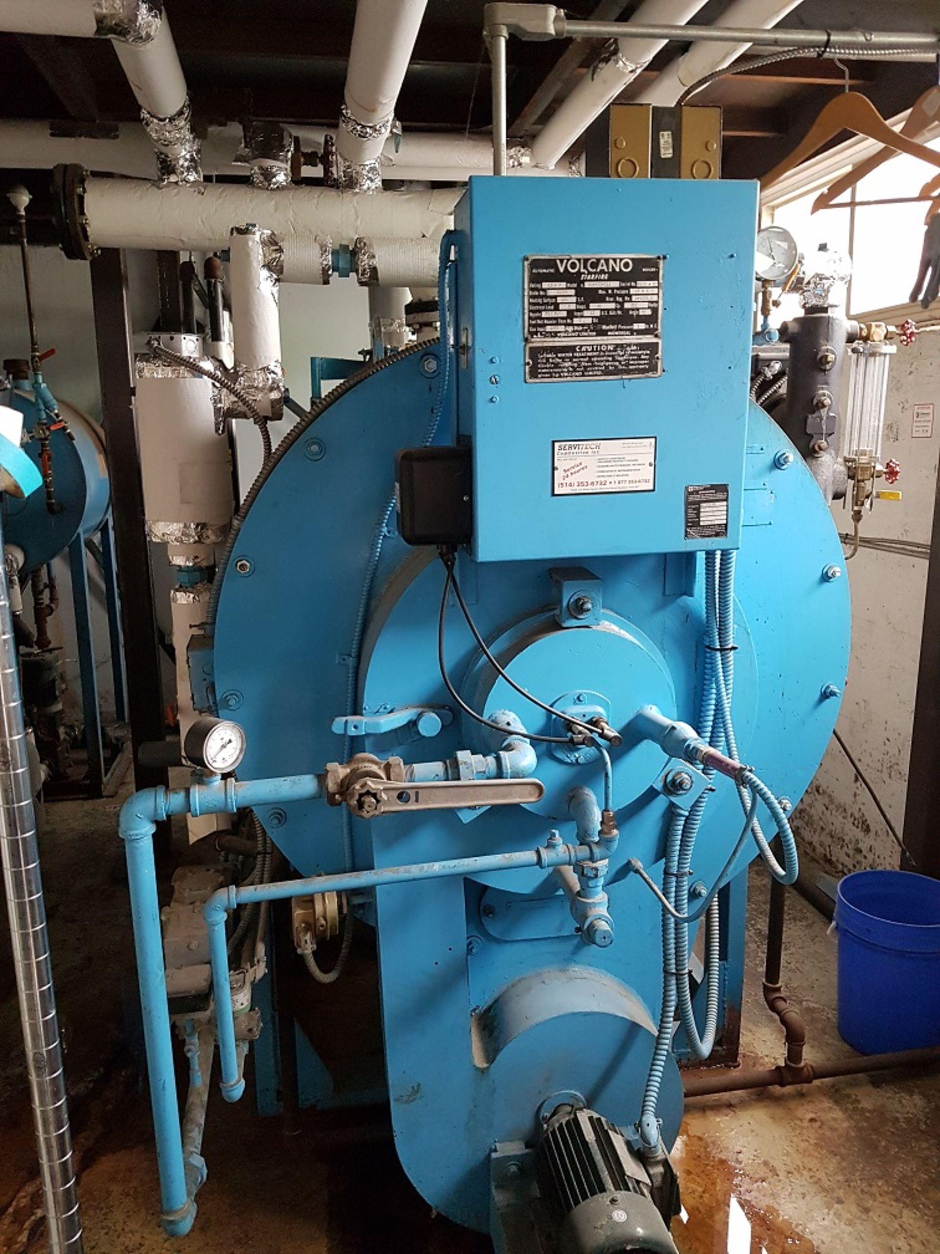 Lot 400 - Volcano Boiler, Gas Boiler, 40 HP -- Volcano Boiler, Model: 44-40E-G11, S/N: 5190-S, 40 HP,