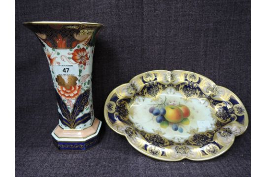 A Copeland Spode Vase Having Gilt Heightened Imari Palette And A