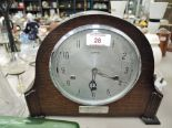 Lot 28 - A vintage mantle clock with chime by Smiths