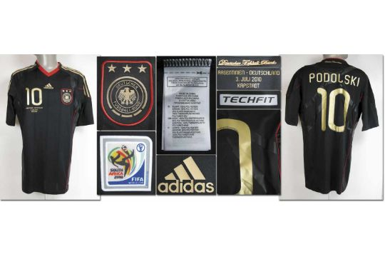 eaad3c570ba World Cup 2010 match worn football shirt Germany - Original match ...