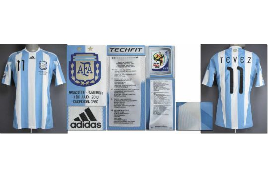 24fde48b66c World Cup 2010 match worn fb. shirt Argentina - Original match worn ...