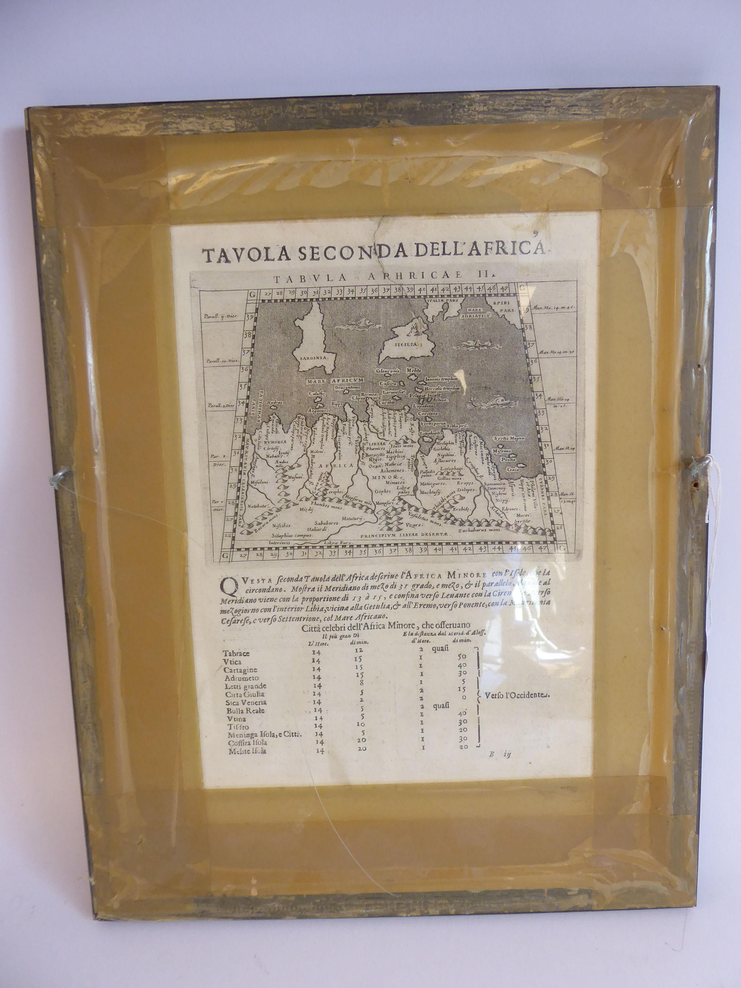 Lot 37 - A late 16thC Giovanni Magini uncoloured map 'Tavola Terza Dell;