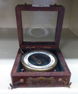 Lot 61 - A modern replica Edwardian brass cased map reading compass boxed OS5