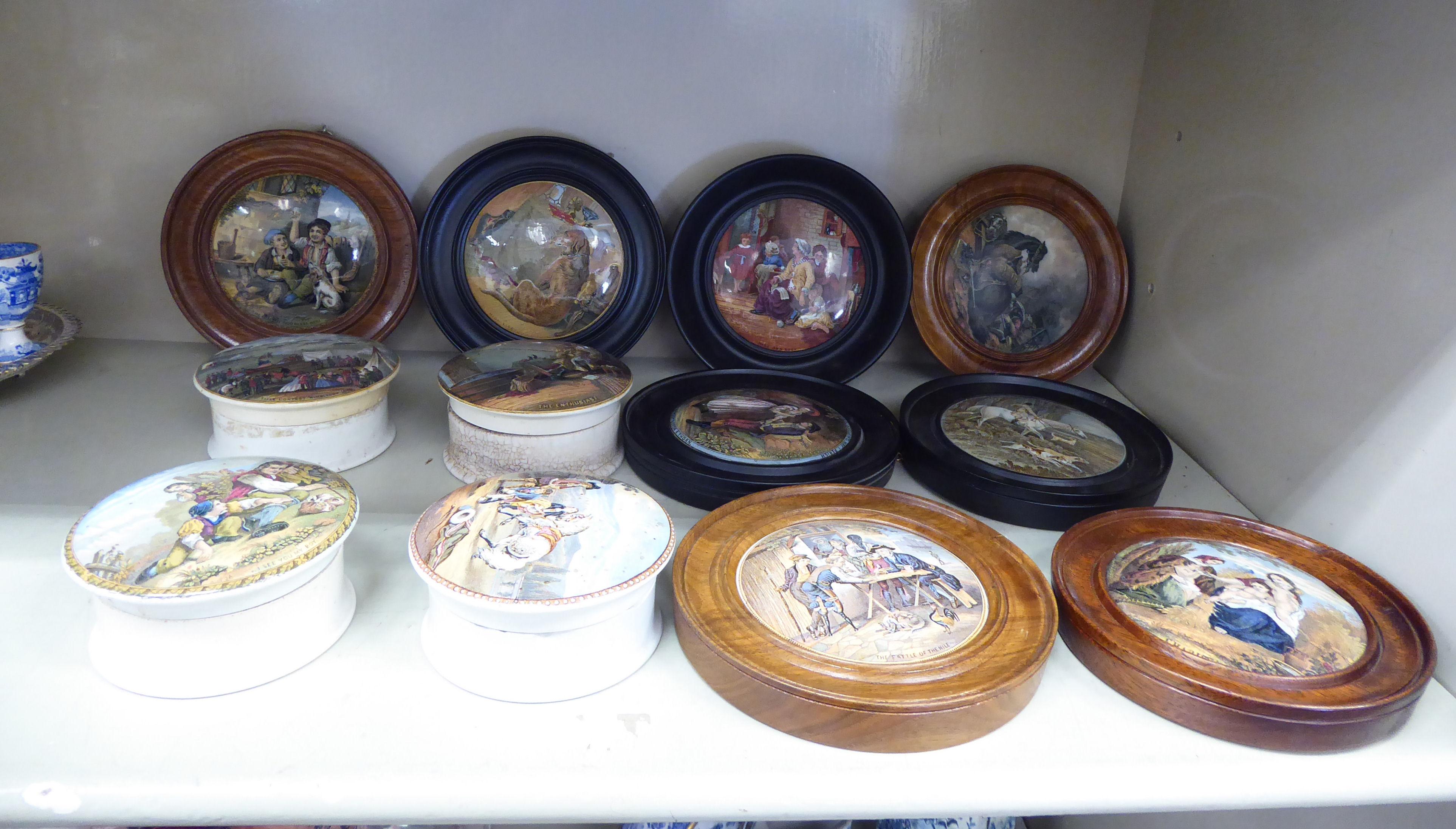 Lot 35 - Four Prattware pottery pots,