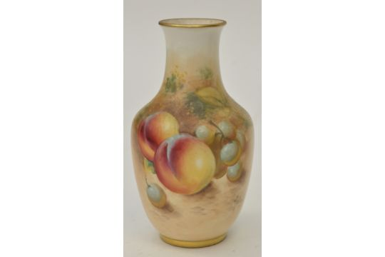 Small Royal Worcester Vase Signed Quotrobertsquot Ovoid Shape