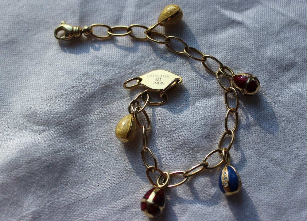 Lot 146 - Victor Mayer for Faberge, an 18ct yellow gold bracelet,