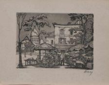 Maurice La Bany (zugeschr.) (französischer Maler u. Grafiker d. 1. Hälfte d. 20. Jh.) Straßencafe in