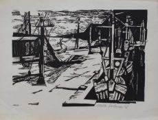 Malte Satorius (Waldlinden 1933 - 2017 Braunschweig, deutscher Maler u. Grafiker, Std. a.d. AK d.