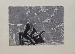 Hermann Ober (Freilassing 1920 - 1997 ebenda, deutscher Maler u. Grafiker, Std. a.d. AK d. Bildenden