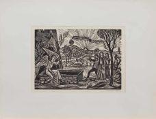 Markus von Gosen (Breslau 1913 - 2004 Prien/ Chiemsee, deutscher Maler, Grafiker u. Karikaturist,