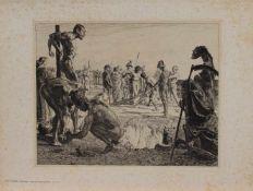 Otto Greiner (Leipzig 1869 - 1916 München, deutscher Maler u. Grafiker, Lithografenausbildung,