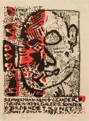 Zimmermann-Nemo/ Sander-Tischbein (Zeitgenössische Maler und Graphiker) Ausstellungsplakat Galerie