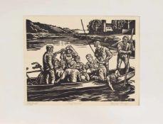 Rudolf Riege (Hameln 1892 - 1959 ebenda, deutscher Maler u. Grafiker, Std. a.d. AK Weimar unter