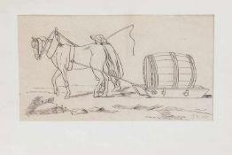 Monogrammist B.K. (wohl ungarischer Biedermeierkünstler des 18./ 19. Jh.) Transportschlitten mit