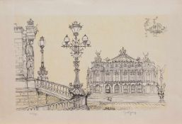 Marcel Genay (Le Havre 1929 - 1993 Biarritz, französischer Maler u. Grafiker) Pariser Oper