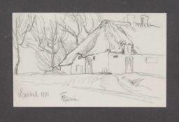 Carl Christian Feddersen (Tonder 1876 - 1936 Keitum, norddeutscher Landschaftsmaler - u. zeichner,