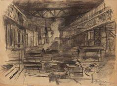 Fritz Köhler ((Moritzberg 1887 - 1972 Düsseldorf, deutscher Landschafts- u. Marinemaler, Std. a.d.
