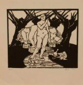 Bernd Goebel (Freiberg 1942 - , deutscher Bildhauer u. Grafiker, Holzbildhauer Lehre, Std. d.